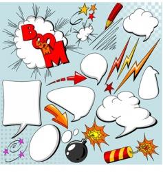 set of comic elements vector image vector image