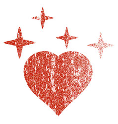 sparkle love heart grunge texture icon vector image vector image