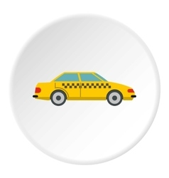 Taxi icon flat style vector image vector image