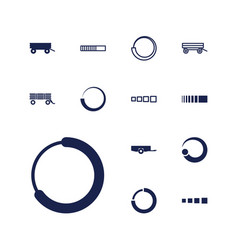 13 loading icons vector