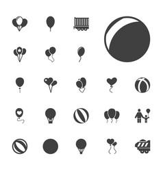 22 balloon icons vector