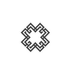 Abstract logo geometric shape futuristic x letter vector