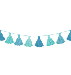 baby boy blue hanging decorative tassels vector image