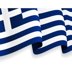 Background with waving greek flag vector
