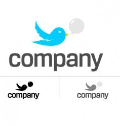 Bird dating chat logo vector