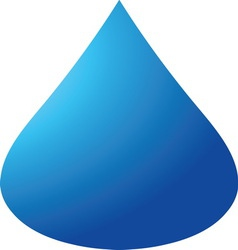 Blue drop 04 resize vector image