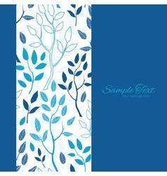 Blue Forest Vertical Frame Seamless Pattern vector