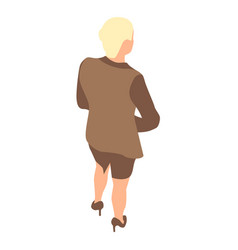 business woman icon isometric style vector image