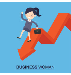 Businesswomanman on falling down vector