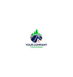 Camp nature logo design vector