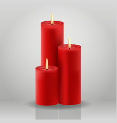 Candle christmas house decoration red vector