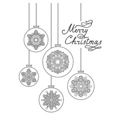 christmas background with handwritten lettering vector image