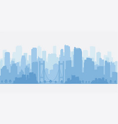 city panorama with skyscrapers skyline vector image