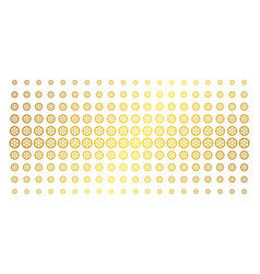 clock wheel golden halftone grid vector image