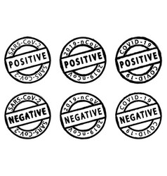 Covid-19 distress stamps vector
