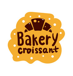 croissant and bakery product logo and icon with vector image