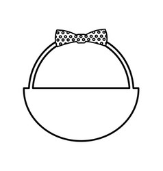 Cute basket with bow vector