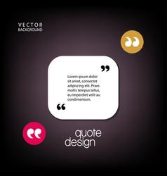 Digital quote frames box vector