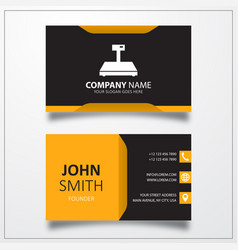 Digital weigher icon business card template vector
