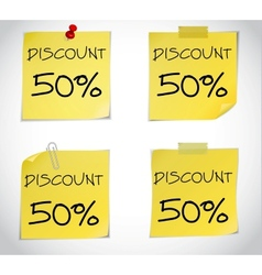 Discount text vector