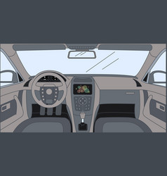 Driver front view with sensor panel rudder vector