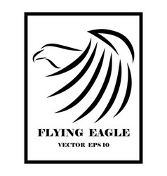 eagle line art logo eps 10 vector image
