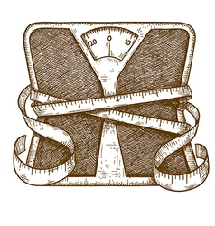 Engraving scales vector