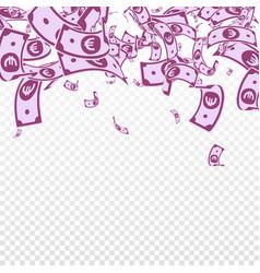 European union euro notes falling messy eur bills vector
