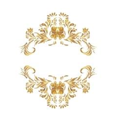 Floral golden border vector
