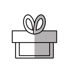 Gift box ribbon birthday event shadow vector