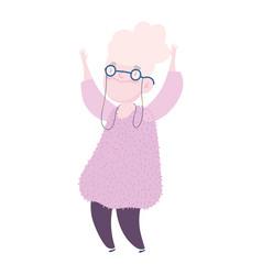 Grandparents day grandma standing character vector