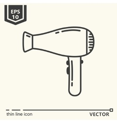 Hairdressing tools Icons series Hair dryer vector image