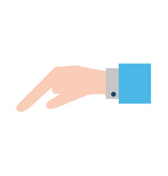 hand pointing with index finger sideview ico vector image