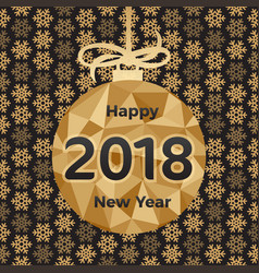 happy 2018 new year holiday vector image