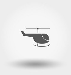 helicopter toy icon silhouette flat vector image
