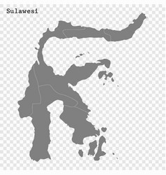 High quality map is a island indonesia vector