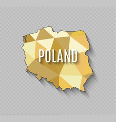 High quality map of poland with borders of the vector