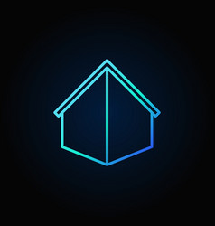 house blue icon vector image