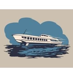 Hydrofoil ship 1 vector image