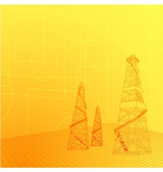 Industrial banner vector image