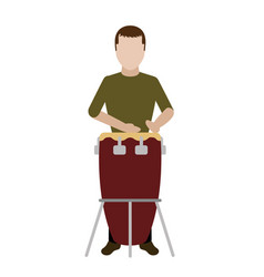 male avatar playing a conga drum vector image