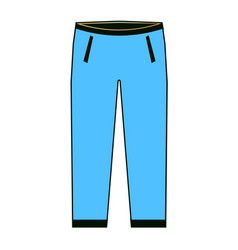 Men s pants - fashion element men s jeans vector