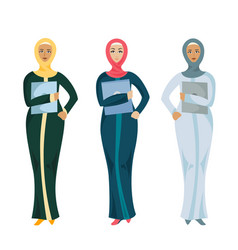 muslim business woman vector image