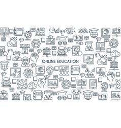 online education line banner vector image