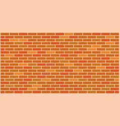 orange yellow brick wall texture vector image