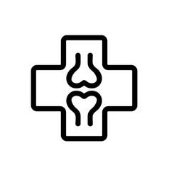 orthopedist icon isolated contour symbol vector image