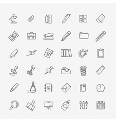 Outline web icon set - office stationery vector