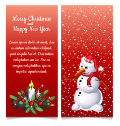 pattern double vertical christmas card vector image