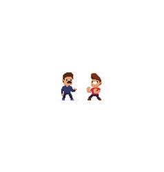 pixel art battle vector image