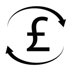pound icon on white background flat style pound vector image